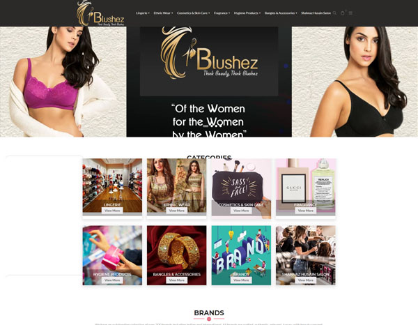 ecommerce website development for fashion store