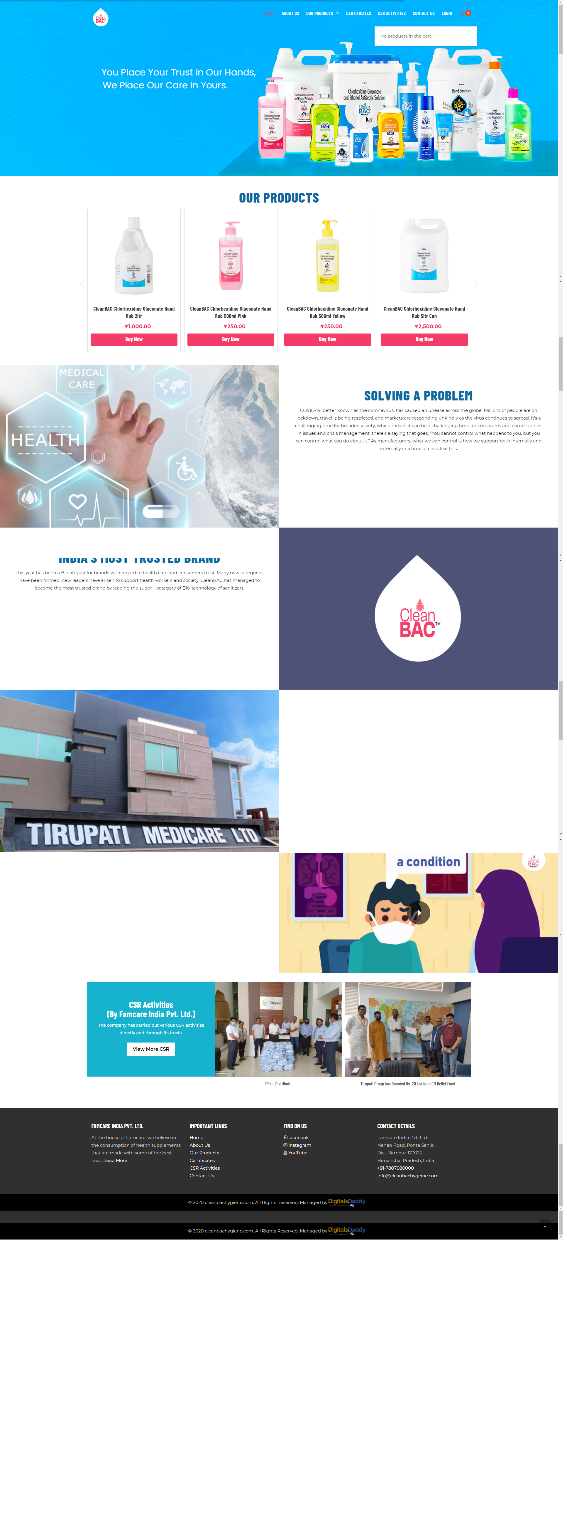 Website Development for pharma and medicine